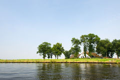 Dutch river. The Eem in the Netherlands Royalty Free Stock Image