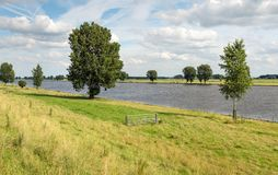 Dutch river Bergsche Maas Royalty Free Stock Image
