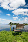 Dutch river the Eem Royalty Free Stock Photography