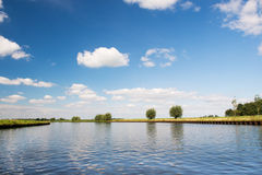 Dutch river the Eem. Landscape with Dutch river the Eem Royalty Free Stock Image