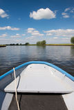 Dutch river the Eem. Landscape with Dutch river the Eem and rowboat Stock Images
