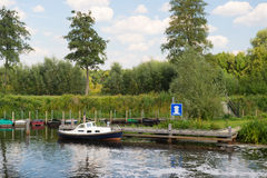 Dutch river in landscape stock photography