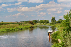 Dutch river in landscape stock images