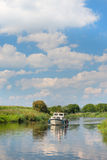 Dutch river in landscape royalty free stock photo