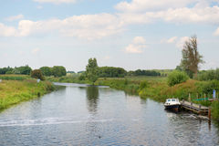Dutch river in landscape Stock Photo