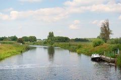 Dutch river in landscape Stock Photo
