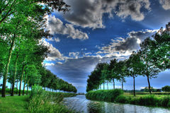 Dutch river with no return Royalty Free Stock Images