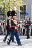 Dutch Royal Guards parade stock photography