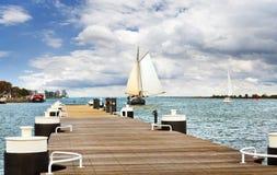 Dutch sailing ship on the lake. Netherland. Royalty Free Stock Photos