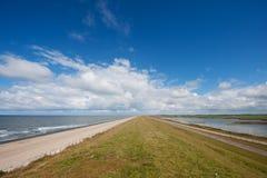 Dutch sea dike Stock Photo