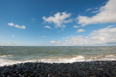 Dutch sea dike Royalty Free Stock Photo