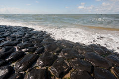 Dutch sea dike Stock Photos