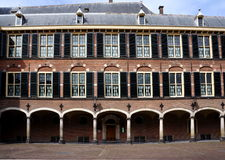 Dutch senate entrance. The Binnenhof at Den Haag, building of the dutch parliament and government Royalty Free Stock Photo