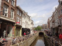 Dutch Shopping Street Royalty Free Stock Images