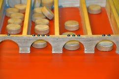 Dutch shuffleboard game Stock Photo