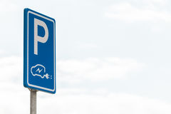 Dutch sign for charging an electric vehicle Stock Photography