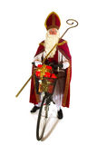 Dutch Sinterklaas on the bike Royalty Free Stock Photography