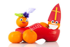 Dutch Sinterklaas and black Pete Stock Photo