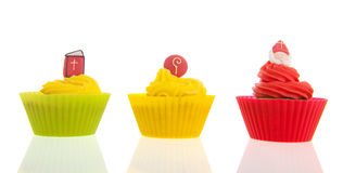 Dutch Sinterklaas cupcakes Royalty Free Stock Image