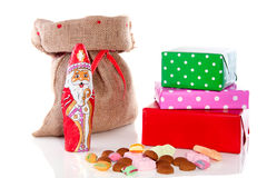 Dutch Sinterklaas gifts and candy Royalty Free Stock Photography