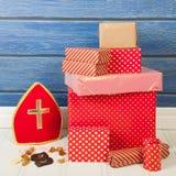 Dutch Sinterklaas gifts Stock Photos
