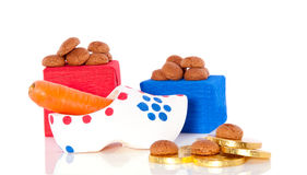 Dutch Sinterklaas gingernuts and gifts Royalty Free Stock Photos