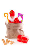 Dutch Sinterklaas With Gifts And Candy Royalty Free Stock Photo