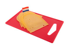 Dutch slices of cheese Stock Images