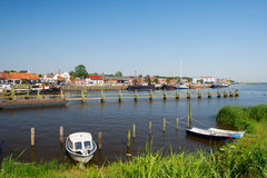 Dutch small harbor place royalty free stock images