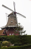 Dutch smock mill The Hope in Dokkum, Friesland royalty free stock photos