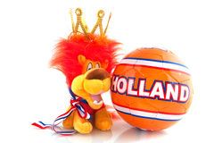 Dutch soccer ball Royalty Free Stock Images