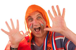 Dutch soccer fan Stock Photography
