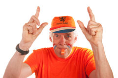 Dutch soccer fan Royalty Free Stock Photography