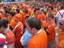 Dutch Soccer Fans. Celebrating successes of the National Team. Eindhoven, The Netherlands, July 2010 Royalty Free Stock Photography