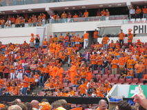 Dutch Soccer Fans. Celebrating successes of the National Team. Eindhoven, The Netherlands, July 2010 Royalty Free Stock Photos