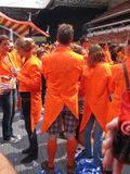 Dutch Soccer Fans. Celebrating successes of the National Team. Eindhoven, The Netherlands, July 2010 Royalty Free Stock Images