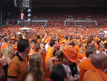 Dutch Soccer Fans. Supporters of the National Football team of Holland Royalty Free Stock Photography