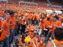 Dutch Soccer Fans. Celebrating successes of the National Team. Eindhoven, The Netherlands, July 2010 Royalty Free Stock Image