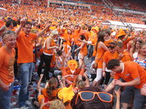Dutch Soccer Fans. Celebrating successes of the National Team. Eindhoven, The Netherlands, July 2010 Stock Images