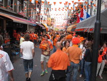 Dutch Soccer Fans Stock Photography