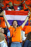Dutch soccer fans Stock Photos