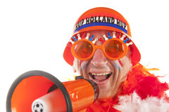 Dutch soccer supporter Royalty Free Stock Image