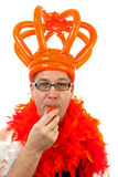 Dutch soccer supporter Stock Photos