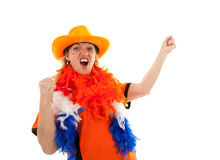 Dutch soccer supporter Stock Images
