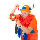Dutch soccer supporter Stock Image
