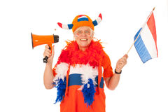 Dutch soccer supporter Royalty Free Stock Photo