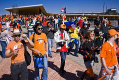 Dutch Soccer Supporters - FIFA WC stock images