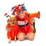 Dutch soccer supporters Royalty Free Stock Images