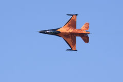 Dutch Solo Display Team F-16 Stock Photo