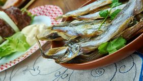 Dutch Soused herring stock images